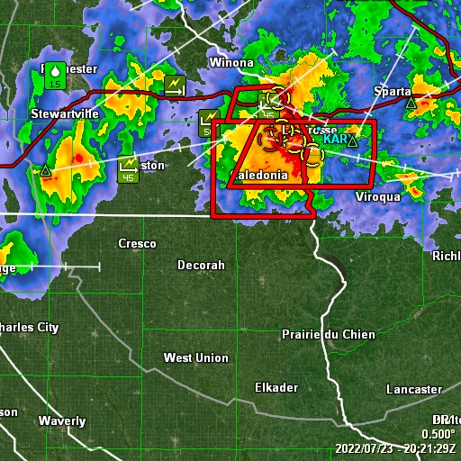 GRLevel3 radar from NWS station KARX